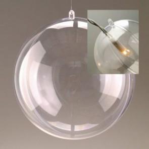 Kunststoffkugel glasklar teilbar mit Loch (PS) 200 mm