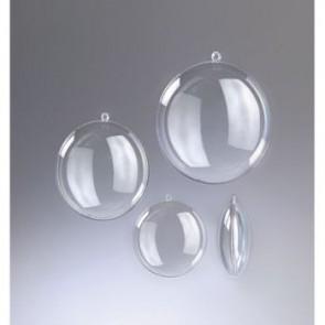 Kunststoffmedaillon glasklar teilbar (PS) 70 mm
