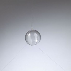 Kunststoffkugel glasklar teilbar (PS) 50 mm