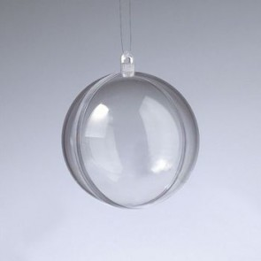 Kunststoffkugel glasklar teilbar (PS) 60 mm