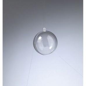 Kunststoffkugel glasklar teilbar (PS) 70 mm