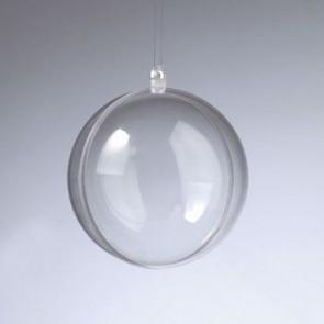 Kunststoffkugel glasklar teilbar (PS) 80 mm
