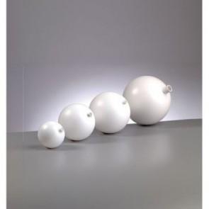 Kunststoffkugel mit Stutzen ø 70 mm  weiß