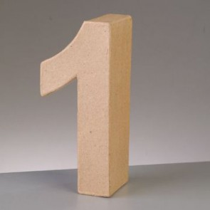 Pappzahl - 1 - H 5 x B 2,5 x T 2 cm