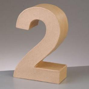 Pappzahl - 2 - H 5 x B 3,8 x T 2 cm