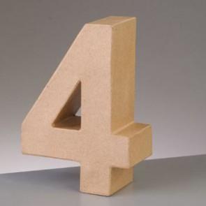 Pappzahl - 4 - H 5 x B 3,9 x T 2 cm