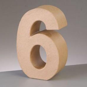 Pappzahl - 6 - H 5 x B 3,6 x T 2 cm