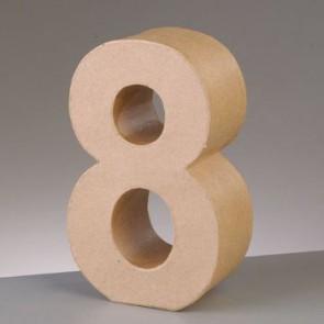 Pappzahl - 8 - H 5 x B 3,5 x T 2 cm