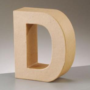 Pappbuchstabe D H 5 x B 4,5 x T 2 cm