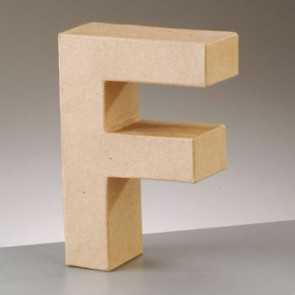 Pappbuchstabe F H 5 x B 3,5 x T 2 cm