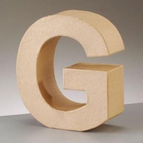 Pappbuchstabe G H 5 x B 4,8 x T 2 cm