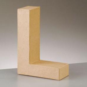 Pappbuchstabe L H 5 x B 3,7 x T 2 cm