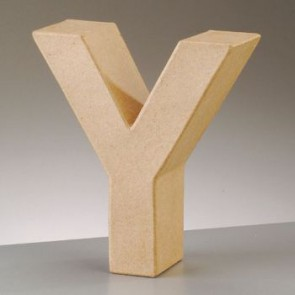 Pappbuchstabe Y H 5 x B 4,8 x T 2 cm