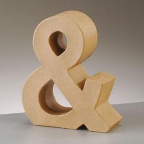 Pappzeichen - & - H 17,5 x B 15 x T 5,5 cm
