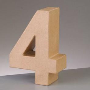 Pappzahl - 4 - H 10 x B 7,2 x T 3 cm