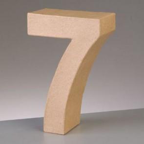 Pappzahl - 7 - H 10 x B 6,8 x T 3 cm