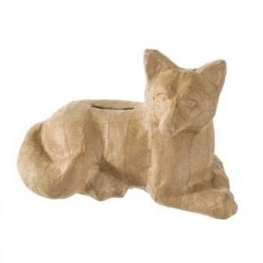 PappArt Figur Spardose Fuchs liegend 19 x 10 x 12 cm
