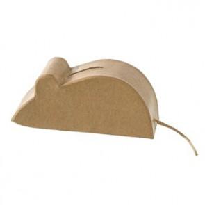 PappArt Figur Spardose Maus 15 x 6,5 x 4,5 cm