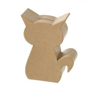 PappArt Figur Spardose Kitty 15 x 11,5 x 4,5 cm