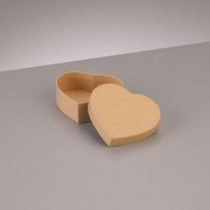 Box Herz flach 8,5 x 7,5 x H 3,1 cm