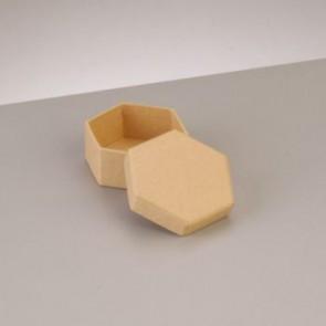 Box Sechseck flach 6,5 x 6,5 x H 2,7 cm