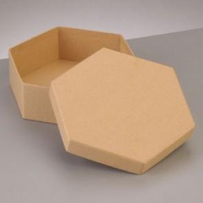 Box Sechseck flach 16,5 x 16,5 x H 5 cm