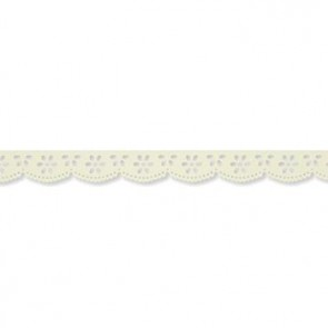 Papier-Klebeband Spitze  20 mm x 3 m  vanille