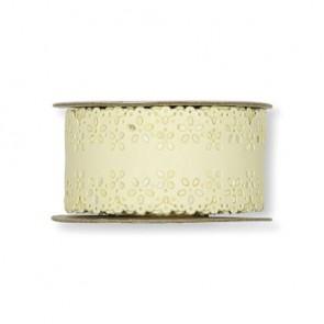 Papier-Klebeband Spitze  26 mm x 3 m  vanille