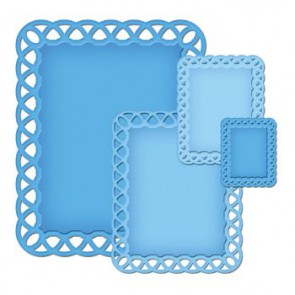 Metallschablone Nestabilities Lattice Rectangles  3,8 x 3 - 13 x 10,1 cm 4 Stk.""