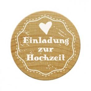 Woodies Stempel Einladung zur Hochzeit 1 ø 30 mm