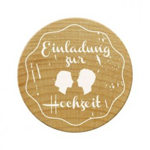 Woodies Stempel Einladung zur Hochzeit 2 ø 30 mm