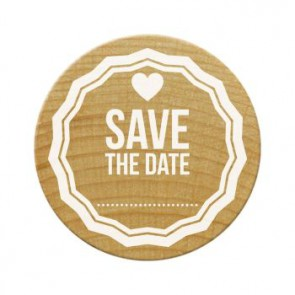 Woodies Stempel Save the Date 1 ø 30 mm