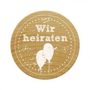 Woodies Stempel Wir heiraten ø 30 mm