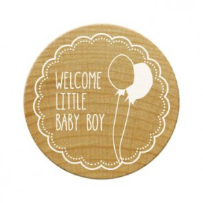 Woodies Stempel Welcome little baby boy ø 30 mm