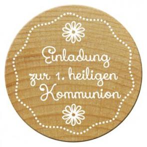 Woodies Stempel Einladung zur 1.heiligen Kommu ø 30 mm