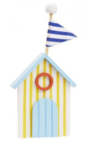 Strandhaus aus Holz 11,5x5cm