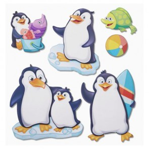 3 D Sticker XXL Pinguine