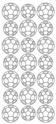 Konturensticker   Fussball   schwarz
