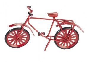 Miniatur-Fahrrad, ca. 9,5 cm, rot