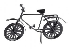 Miniatur-Fahrrad, ca. 9,5 cm, schwarz