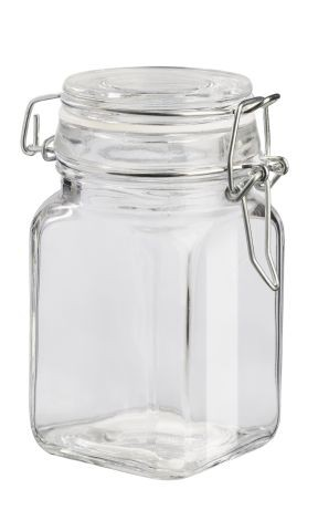Deko-Glas viereckig, 11 x 6,5 cm