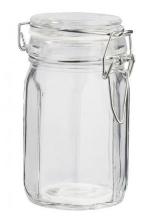 Deko-Glas achteckig, 11 x 6,5 cm