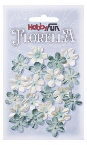 FLORELLA-Blüten aus Maulbeer-Papier, 2 cm, hellblau, Btl. a 20 St.