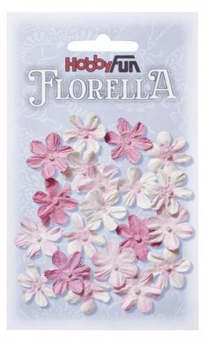 FLORELLA-Blüten aus Maulbeer-Papier, 2 cm, rose, Btl. a 20 St.