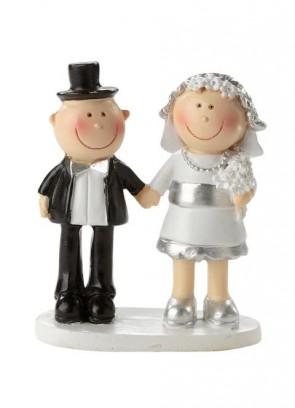Hochzeitsfigur  Jubiläumspaar silber  5cm