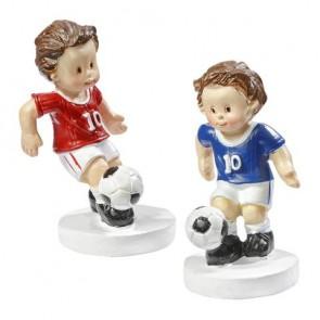Fußballer blau/weiß, ca. 5 cm