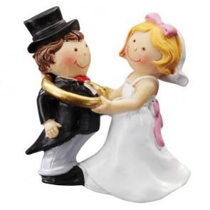 Hochzeitsfigur  Paar mit Ring 2D  5,5cm