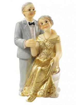 Hochzeitsfigur  Goldpaar I  ca. 7,5 cm