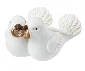 Taubenpaar mit Ringen, 3 cm