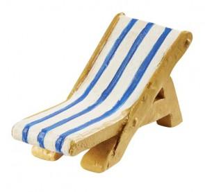 Liegestuhl blau/weiss 5 x 3 cm